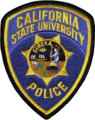 Patch of the California State University Police.png