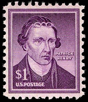US Postage stamp, Patrick Henry, 1955 issue, $...