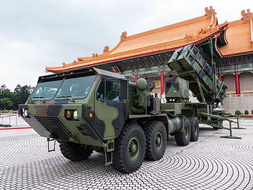 Patriot PAC-2 Launcher with HEMTT Display at CKS Memorial Hall Square 20140607b