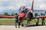 Patrulla Águila on CASA C-101EB Aviojet pre flight checks (22066257366).jpg