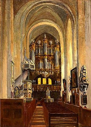 Lübeck Cathedral - Inside before 1942