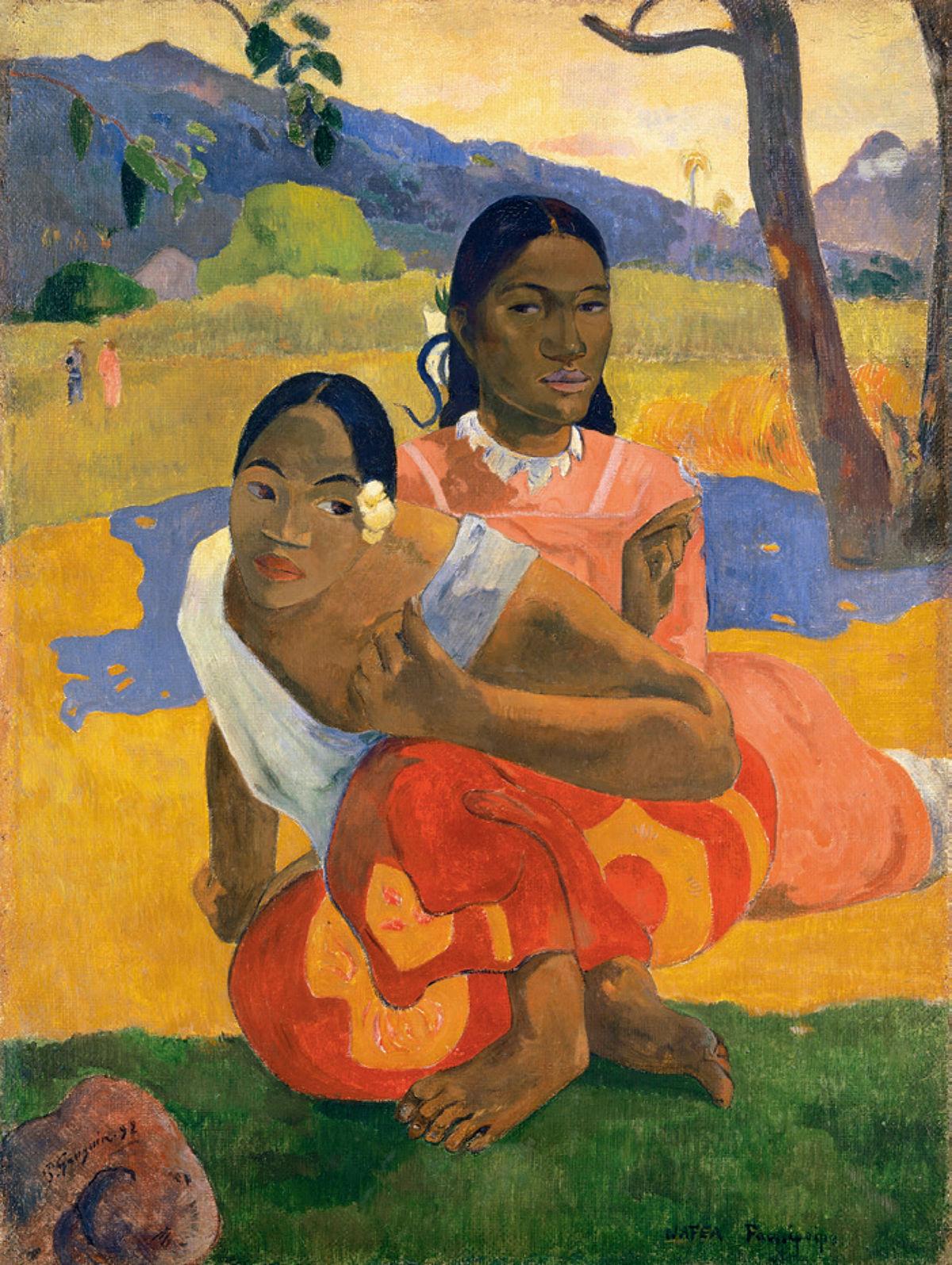 Resultado de imagen de Paul Gauguin. 'Nafea faa ipoipo' (¿Cuándo te casarás?) (1892).