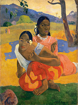 Paul Gauguin, Nafea Faa Ipoipo? (When Will You Marry?) 1892, oil on canvas, 101 x 77 cm.jpg