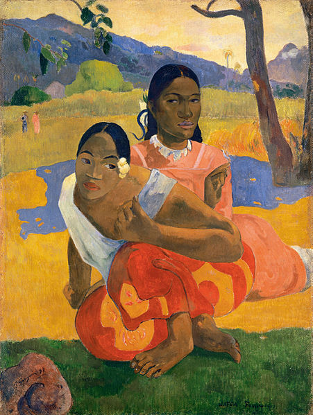 File:Paul Gauguin, Nafea Faa Ipoipo? (When Will You Marry?) 1892, oil on canvas, 101 x 77 cm.jpg