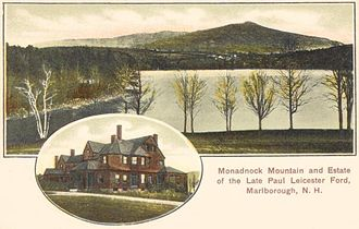 Paul Leicester Ford - Merrywood, Ford's estate on Stone Pond in Marlborough, New Hampshire