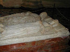 Beatrice d'Este - Tomb of Ludovico il Moro and Beatrice d'Este by Cristoforo Solari.