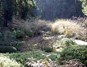 Portland Japanese Garden - Wintertime vista