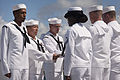 Pearl Harbor Survivor Theodore F. Roosevelt ashes placed aboard USS Utah 140320-F-AD344-147.jpg