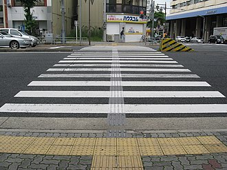 Tactile paving - Image: Pedestrian Crossing with Textured Paving Blocks