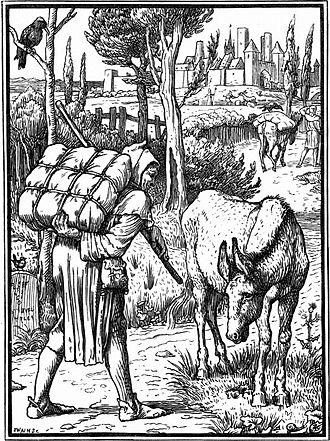 """The Pedlar's Pack - """"The Pedlar's Pack""""  - Illustration by Walter Crane"""