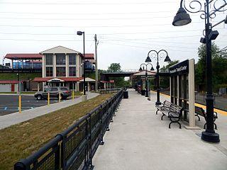Pennsauken Transit Center train station in Pennsauken, New Jersey