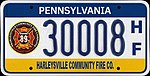 Pennsylvania 2009 Harleysville Community Fire Company license plate.jpg