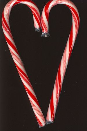 Peppermint candy cane on my scanner