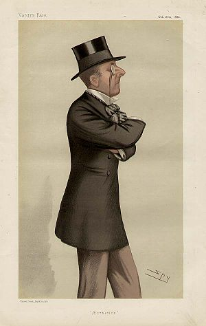 "Percy Wyndham (1835–1911) - ""Æsthetics"". Caricature by Spy published in Vanity Fair in 1880"