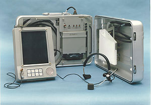 "E-book - The first portable electronic book, the US Department of Defense's ""Personal Electronic Aid to Maintenance""."