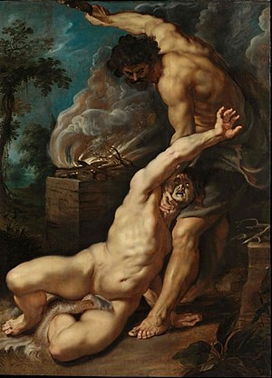 Cain and Abel - Cain slaying Abel by Peter Paul Rubens