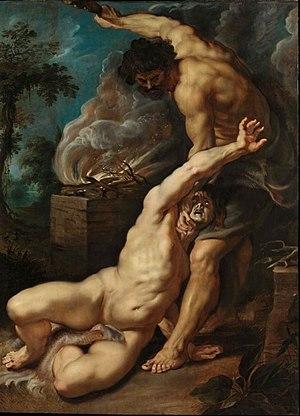 Caravaggisti - Cain slaying Abel, Rubens, 1608-1609