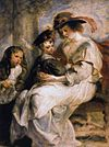 Peter Paul Rubens - Helena Fourment with her Children, Clara, Johanna and Frans - WGA20389.jpg