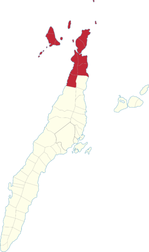 Legislative districts of Cebu - Map of the current 4th District of Cebu