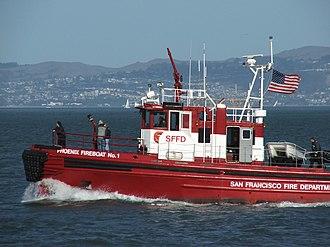 Phoenix (fireboat) - Image: Phoenix fireboat No. 1 of the SFFD