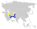 Phylloscopus neglectus distribution map.png