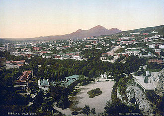 Pyatigorsk - View of Pyatigorsk between 1890 and 1900.