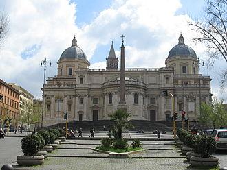 Santa Maria Maggiore - Piazza dell'Esquilino with the apse area of Santa Maria Maggiore.