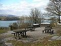 Picnic tables overlooking Llandegfedd Reservoir - geograph.org.uk - 1751148.jpg