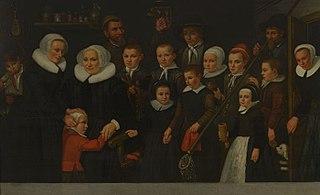 Portret van moeders, knechten en kinderen van het Leprooshuis in Rotterdam