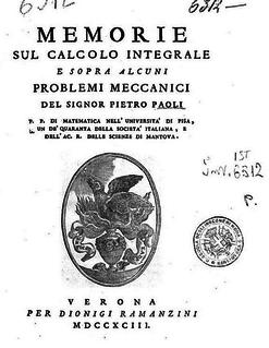 Pietro Paoli Italian mathematician