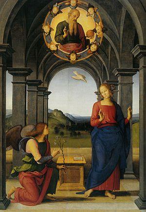 Pietro Perugino: Annunciazione. Cat. no. 23 in...