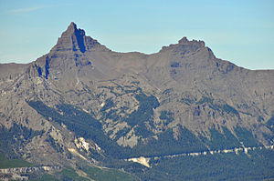 Pilot Peak (Wyoming) - Image: Pilot and Index Peaks Wyoming