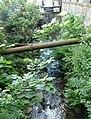 Pipe crossing Longwood Brook, Market Street, Milnsbridge - geograph.org.uk - 927910.jpg