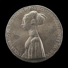 Cecilia Gonzaga, 1426-1451, daughter of Gianfrancesco I [obverse]