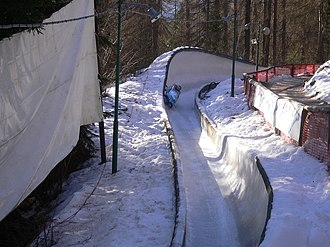 1956 Winter Olympics - The Eugenio Monti track was the venue for the bobsleigh events.