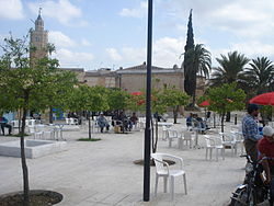 Public square with Great Mosque of Testour in the back