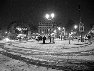 Place Pigalle square in Paris, France