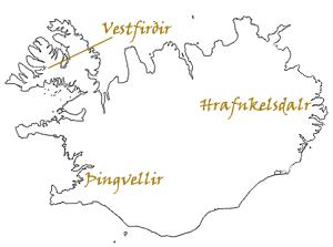 Hrafnkels saga - Hrafnkels saga spans a large part of Iceland