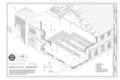 Planing Mill Structural Isometric - Southern Pacific, Sacramento Shops, Planing Mill, 111 I Street, Sacramento, Sacramento County, CA HAER CA-303-G (sheet 8 of 8).png