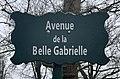 Plaque Avenue Belle Gabrielle - Paris XII (FR75) - 2021-01-21 - 1.jpg