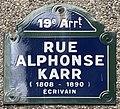 Plaque Rue Alphonse Karr - Paris XIX (FR75) - 2021-05-19 - 1.jpg