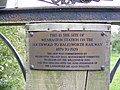 Plaque at the Site of the Wenhaston Railway - geograph.org.uk - 996281.jpg