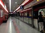 Platform of Dongzhimen Station (Airport Line, Beijing Metro).jpg