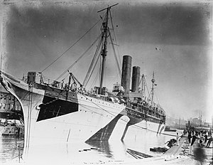 SS City of New York - New York as the troopship Plattsburg.