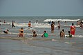 Playful People with Sea Waves - New Digha Beach - East Midnapore 2015-05-01 8709.JPG