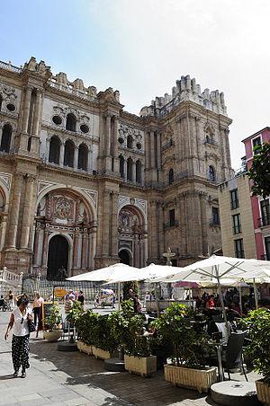 Málaga Cathedral - Image: Plazadel Obispo Malaga