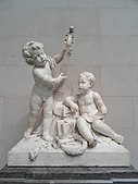 Poetry and Music by Claude Michel, called Clodion, c. 1774-1778, marble - National Gallery of Art, Washington - DSC08957.JPG