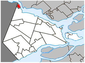 Pointe-Fortune, Quebec - Image: Pointe Fortune Quebec location diagram