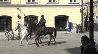 File:Policijska konjenika pred mestno hišo.webm