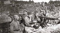 Polish-soviet war 1920 Polish defences near Milosna, August.jpg